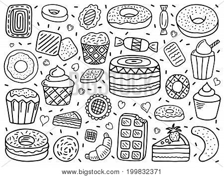 sweets doodle doodle vector sweets hand drawn sweets