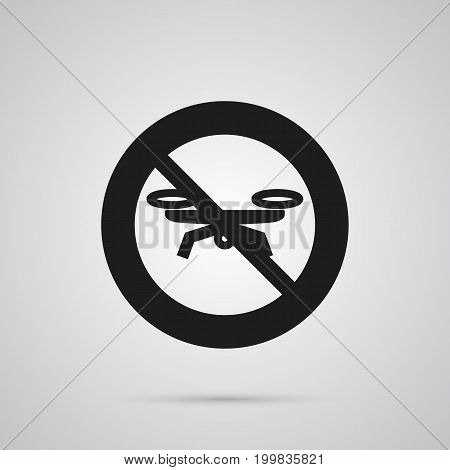 Vector No Drone Element In Trendy Style.  Isolated Forbidden Icon Symbol On Clean Background.