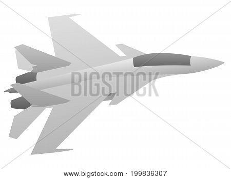 Modern military fighter jet aircraft vector illustration