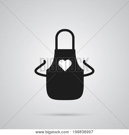 Vector Pinafore Element In Trendy Style.  Isolated Apron Icon Symbol On Clean Background.