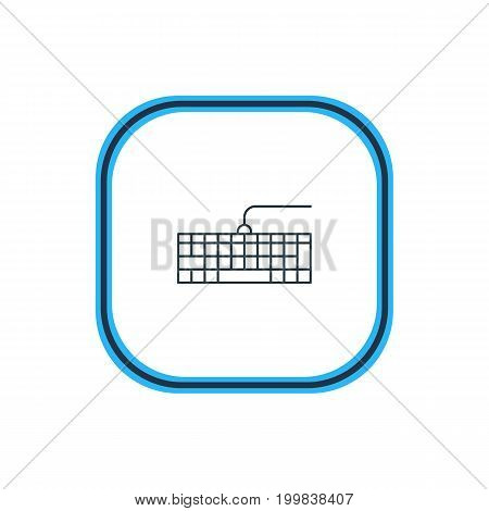 Beautiful Notebook Element Also Can Be Used As Qwerty Board Element.  Vector Illustration Of Input Buttons Outline.