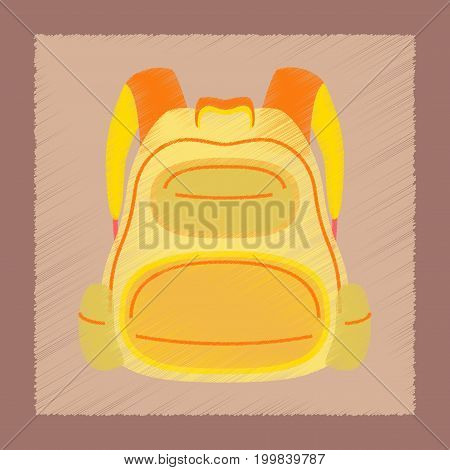 flat shading style icon fashionable school bag