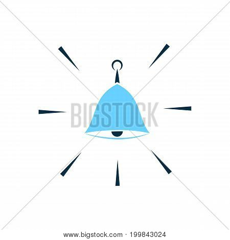 Hand bell vector icon. Security alarm concept
