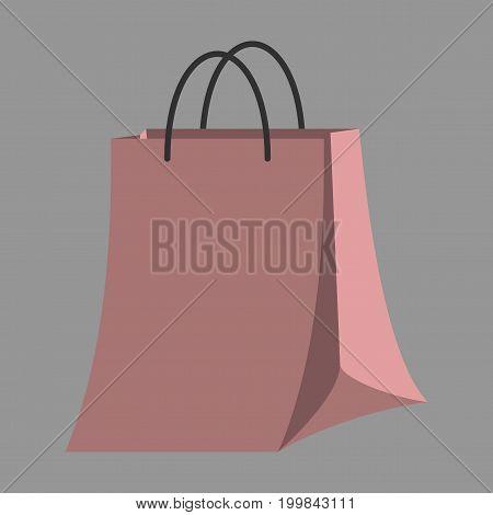 Icon in flat design fashion paper bag