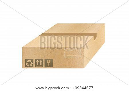 Brown carton set packaging the goods concept. isolated on white background delivery for banner icon logo graphic infor.