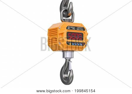 Industrial crane scale 3D rendering isolated on white background