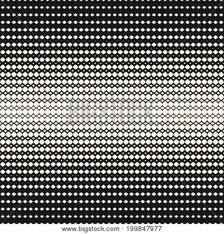 Vector geometric seamless pattern. Hipster fashion design print. Halftone pattern. Abstract monochrome texture with gradient transition effect. Illustration of mesh, curved lines with gradually thickness. Design pattern, textile pattern.