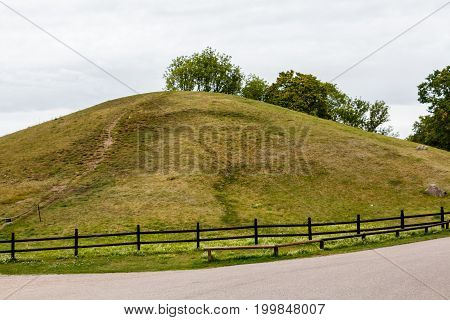 Royal Mounds - Large Barrows Located In Gamla Uppsala Village, Uppland, Sweden