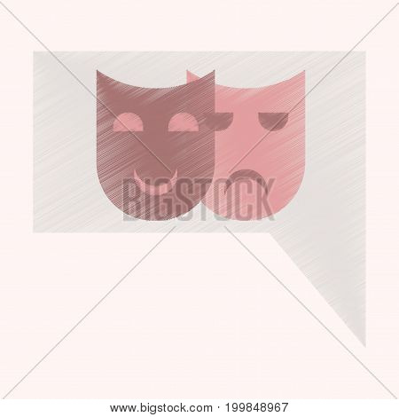 Flat Icon in Shading Style film mask