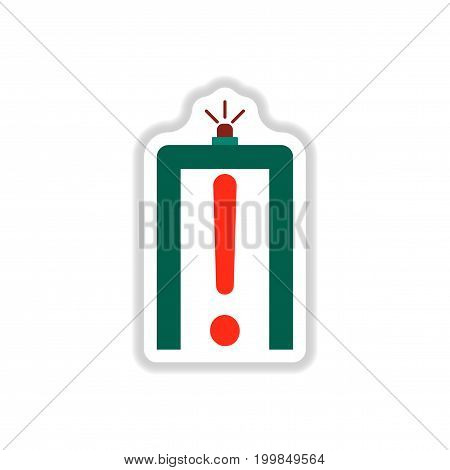 paper sticker on white background airport scanner detector