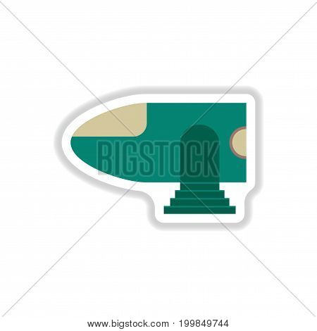 paper sticker on white background Airplane nose