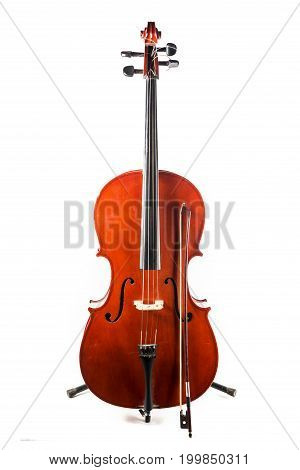 Old Cello With His Bow
