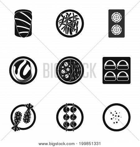 Food icons set. Simple set of 9 food vector icons for web isolated on white background