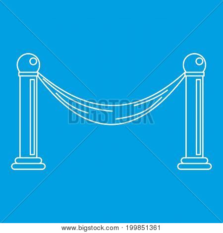 Barrier icon blue outline style isolated vector illustration. Thin line sign