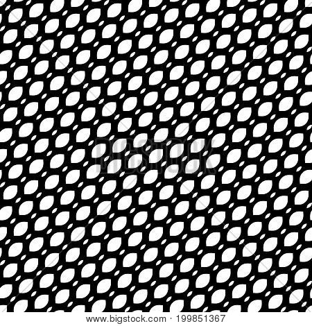 Diagonal mesh pattern, simple monochrome black & white geometric texture, illustration of diagonal mesh, lattice, tissue structure. Design pattern, textile pattern, covers pattern, digital pattern, web pattern, decor pattern, fabric pattern.