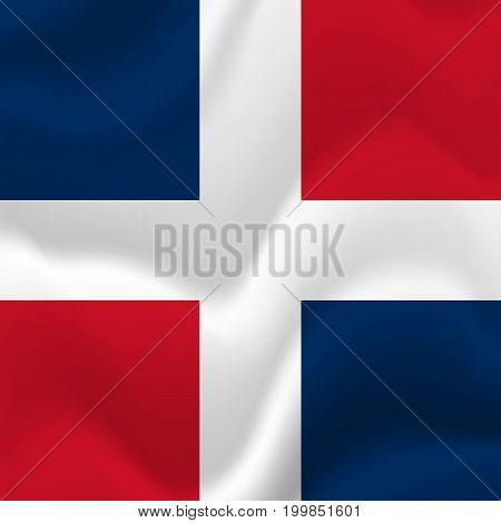 Dominican Republic waving flag. Waving flag. Vector illustration.
