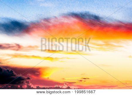 Burning Heavens Sunset Paradise
