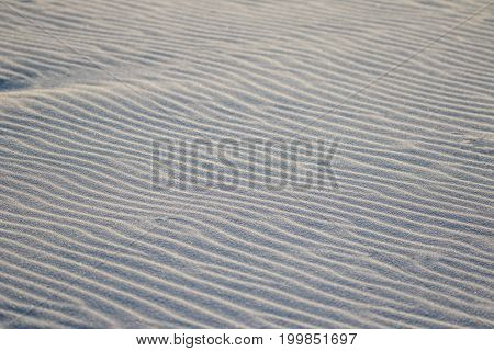 Close up detail of the wind blown sand on a beach
