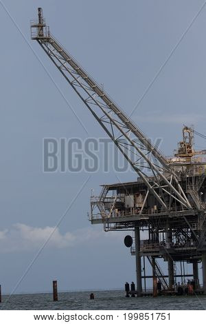 Offshore oil and natural gas drilling platform in the Gulf of Mexico