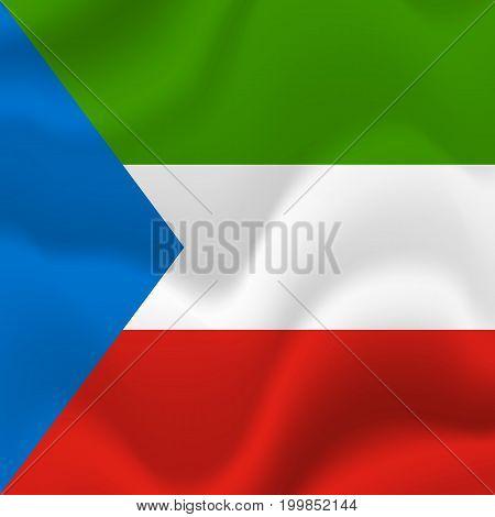 Djibouti waving flag. Waving flag. Vector illustration.