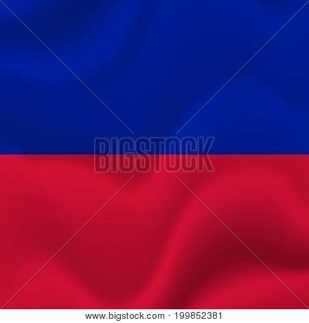 Haiti waving flag. Waving flag. Vector illustration.