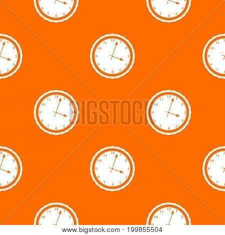 Watch pattern repeat seamless in orange color for any design. Vector geometric illustration