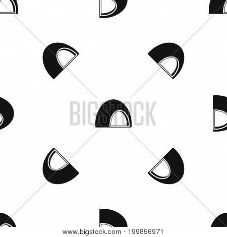 Souffle pattern repeat seamless in black color for any design. Vector geometric illustration