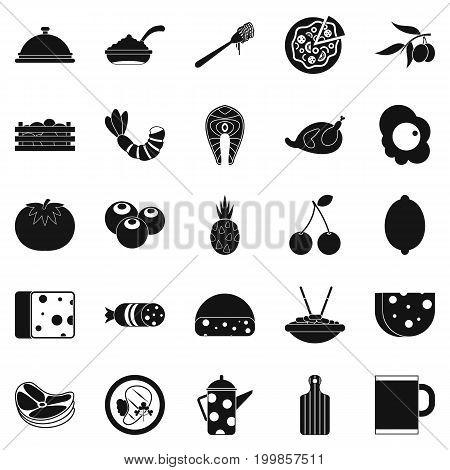 Flesh icons set. Simple set of 25 flesh vector icons for web isolated on white background