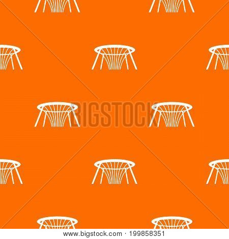 Fountain of Wealth in Singapore pattern repeat seamless in orange color for any design. Vector geometric illustration