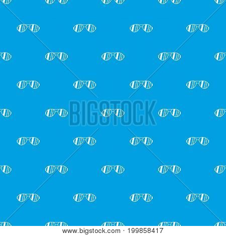 Glasses pattern repeat seamless in blue color for any design. Vector geometric illustration