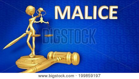 Malice Law Concept Lady Justice The Original 3D Character Illustration