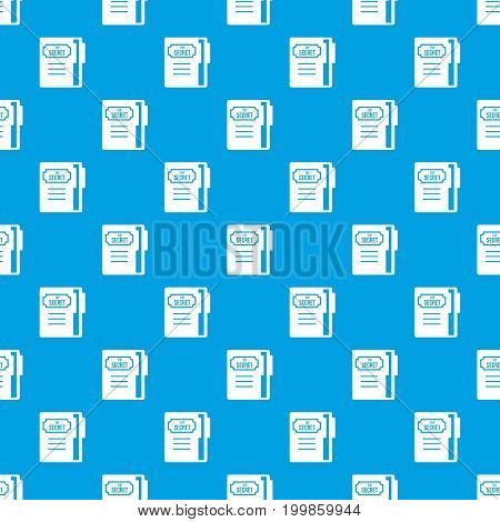 Notepad pattern repeat seamless in blue color for any design. Vector geometric illustration