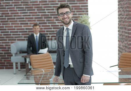 business people.successful businessman with a portfolio
