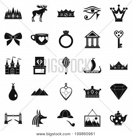 Ruler icons set. Simple set of 25 ruler vector icons for web isolated on white background