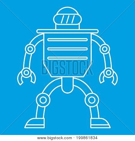 Telemechanical device icon blue outline style isolated vector illustration. Thin line sign
