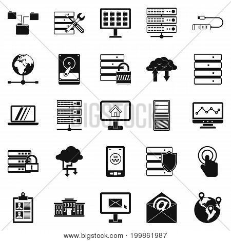 Handheld icons set. Simple set of 25 handheld vector icons for web isolated on white background