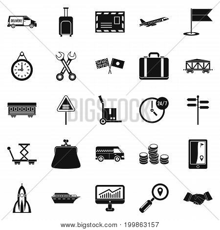Warehouse worker icons set. Simple set of 25 warehouse worker vector icons for web isolated on white background