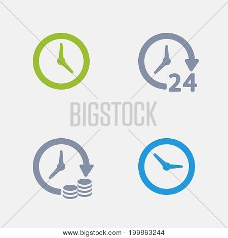 Clocks & Time - Granite Icons. A set of 4 professional, pixel-perfect icons designed on a 32x32 pixel grid.