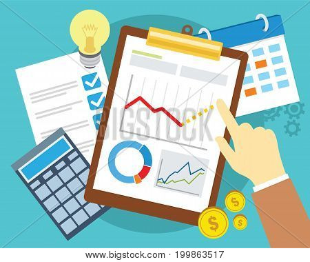 business plan and strategy vector illustration design concept
