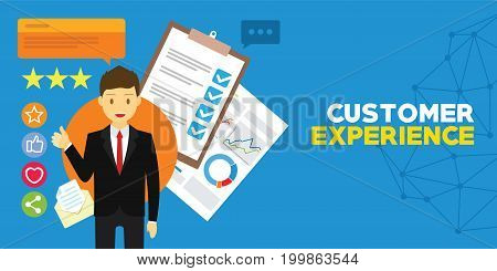 customer experience and client testimonials vector illustration