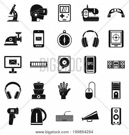 Medical equipment icons set. Simple set of 25 medical equipment vector icons for web isolated on white background