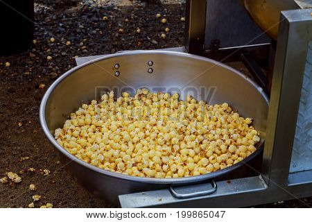 Making Popcorn A Caramel Coated In Market