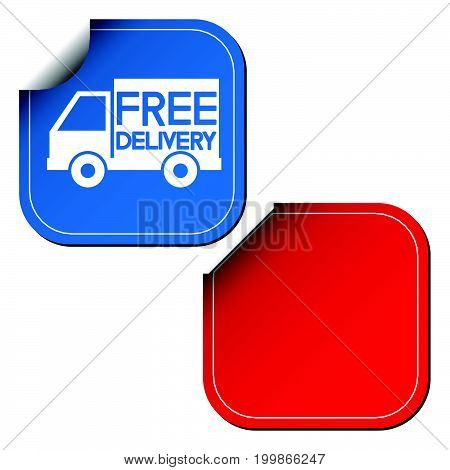Free delivery labels or stickers. Vector illustration