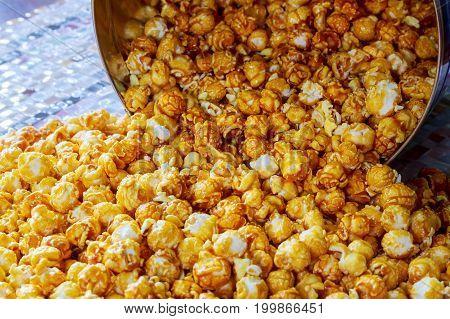 Popcorn Texture. Popcorn Snacks As Background.
