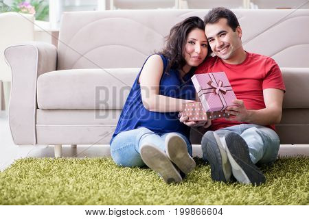 Young couple family expecting a baby