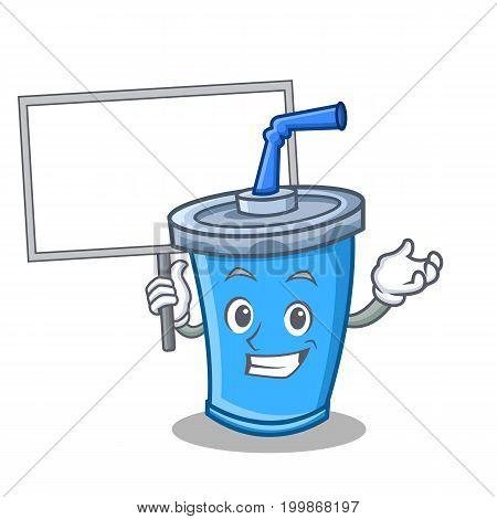 Bring board soda drink character cartoon vector illustration