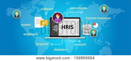 HRIS Human Resources Information System software application company vector