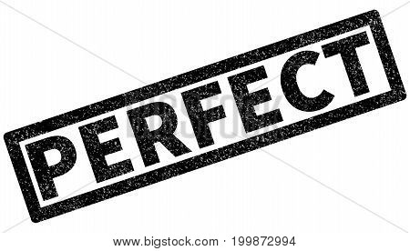 perfect rubber stamp on white background. perfect sign.