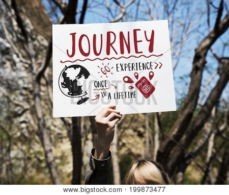 Start The Journey Travel Word Graphic