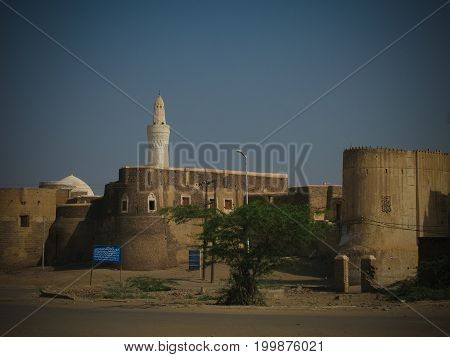 The Grand Al-Ashair Mosque and citadel at Zabid Hudaydah Yemen